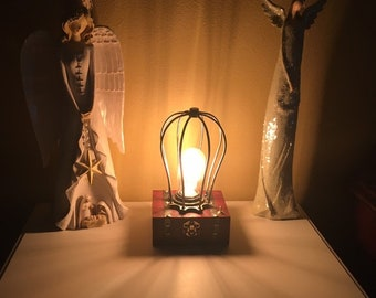 Gold Desk Lamp,Desk Lamp,Modern Industrial,Wire Shade,Decor Lighting