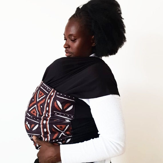 Tribal African Print Baby Wrap Stretchy Wrap With Brown Etsy