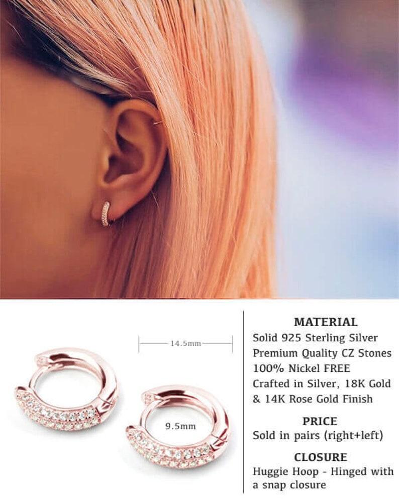 263901733 Gold CZ Hoops Small hoop earrings Cute hoop earrings | Etsy