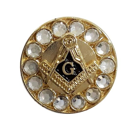 Square Compass and G  on Scottish Flag Masonic Lapel Pin LP 51 Freemasons