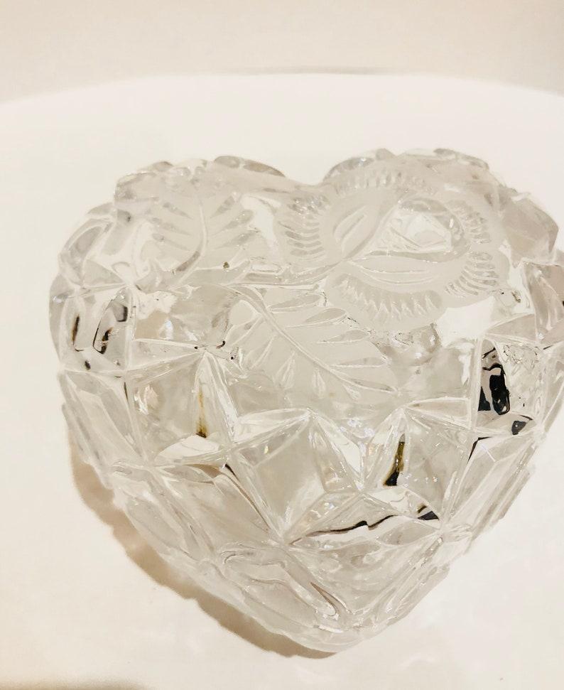 rose pattern chrismas gift gift for her valentine gift jewelry box Huge Vintage heart shape trinket romantic gift for him