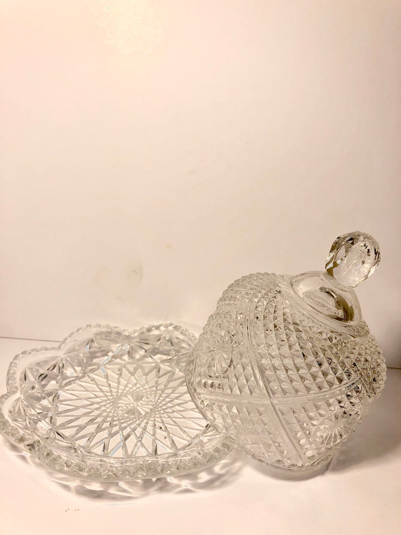 imperial glass Vintage Avon domed butter dish