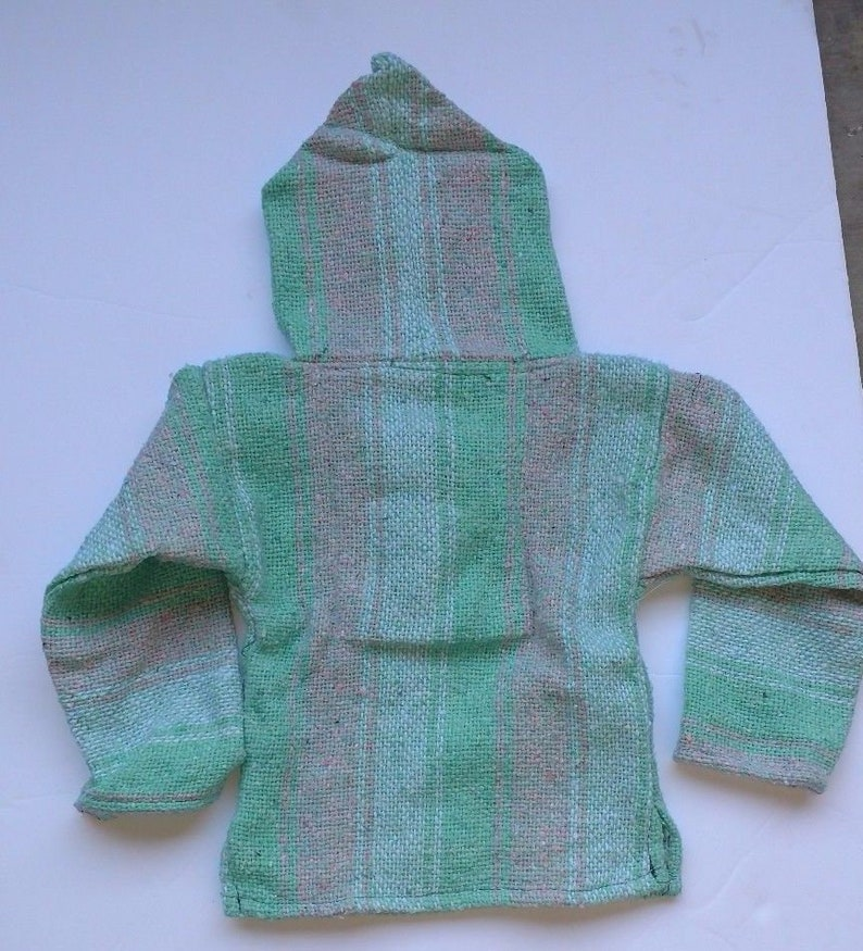 Mexican Baja Children/'s Hoodie From  Mexico Poncho Pullover Multi Colors /& Sizes 1T-5T