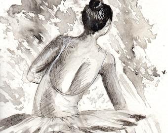 Ballet Dancer - Watercolor Painting