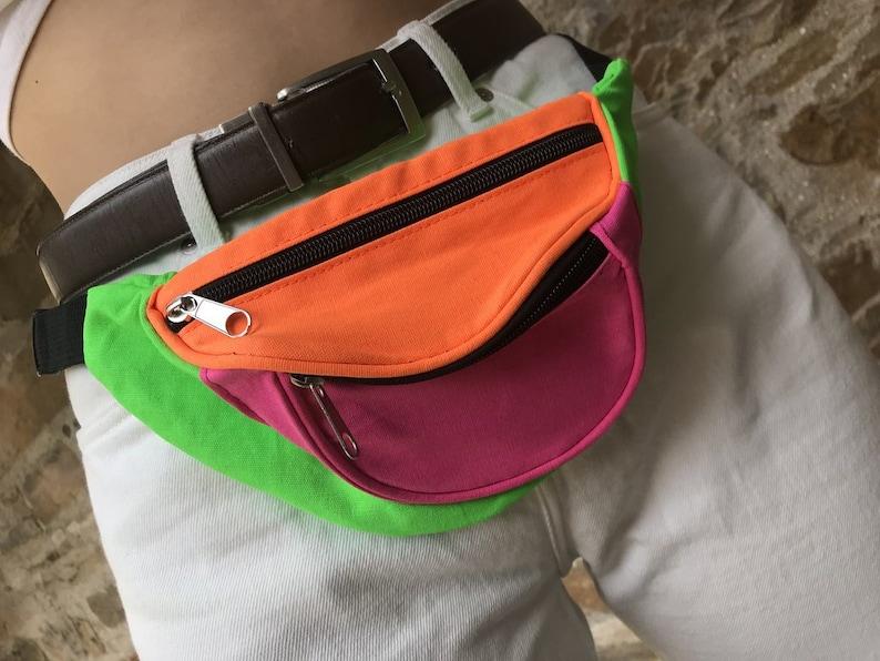 Love Route Colour Block Festival Unisex Fanny Pack  Bum Bag