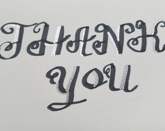 Calligraphy Hand Written Thank You Notes