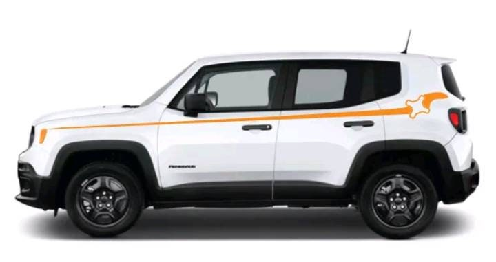 Jeep Renegade All Years Upper Body Pinstripe Logo Decal Kitmany