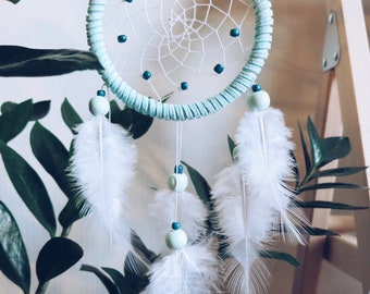 Mini car dream catcher Wall hanging Room decor Turquoise dreamcatcher