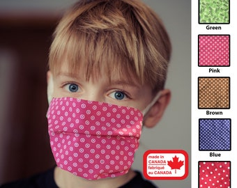 Childrens Face Mask / 100% Soft Cotton / Machine Wash & Dry / Fast Shipping