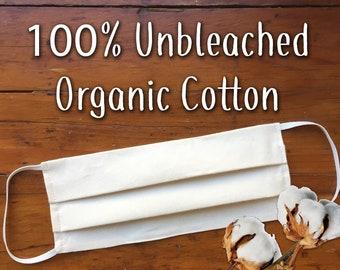Organic Cotton Face Mask / Washable / Ships Quick