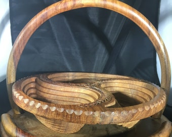 Handcrafted Wooden Nut Bowl