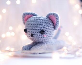 Tiny stuffed cat | Etsy