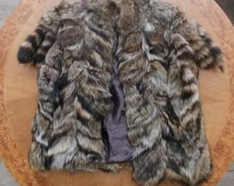 Real Raccoon Fur Vest