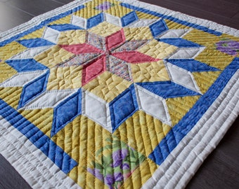 Bright Morning Glory Hand Quilt