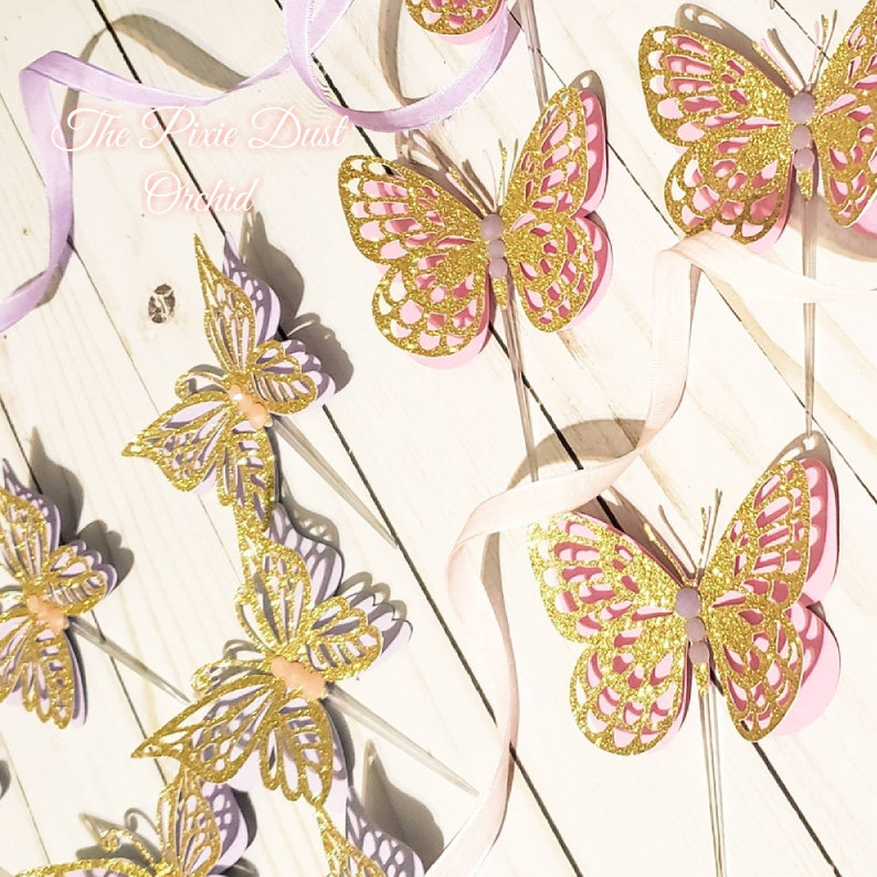 Butterfly Party 3D Butterfly Topper Butterflies Cupcake Topper 12 Piece 3D Butterfly Cupcake Toppers Butterfly Party Decoration