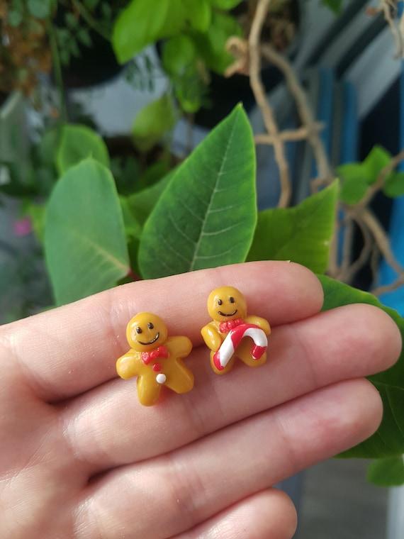 Kawai Cup Fimo Gourmands Fun Anti Allergy Metal Chips Cookie Earrings Polymer Clay Cute Clous