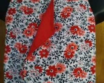 Dining Scarf Adults DinnerWear  Red Flowers with Black Accent #nomorebibs