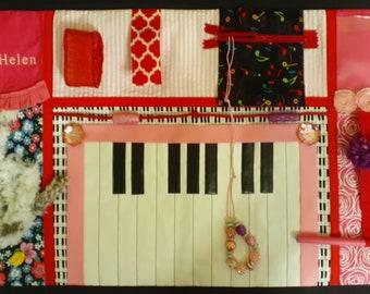 Piano Theme! Fidget Quilt for Alzheimers, Dementia or Brain Trauma Patients.