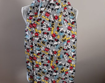 Dining Scarf Adults Mickey Mouse Gray