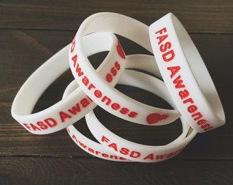 5 FASD Awareness Bracelets