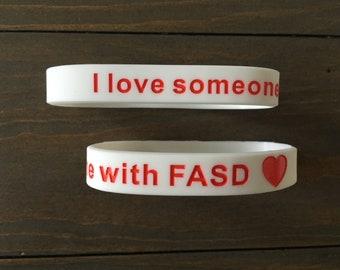 I love someone with FASD bracelet