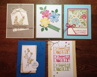 Hand stamped cards etsy hand stamped cards birthday cards m4hsunfo