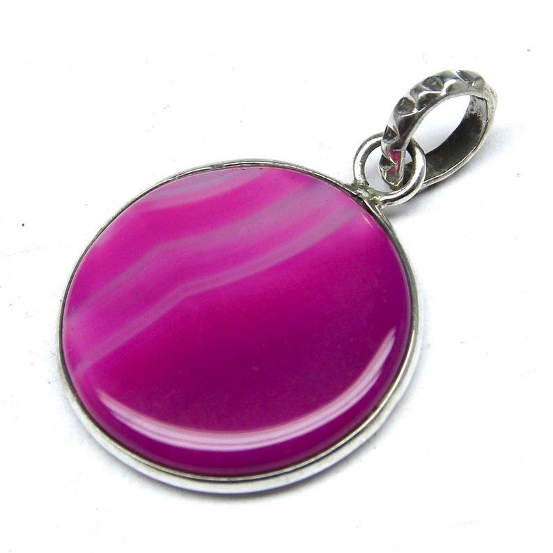 Amazing Pendant, Hand Made Pendant Women Pendant 925 Sterling Silver Women Pendant Beautiful Natural Chalcedony Pink Gemstone Pendant