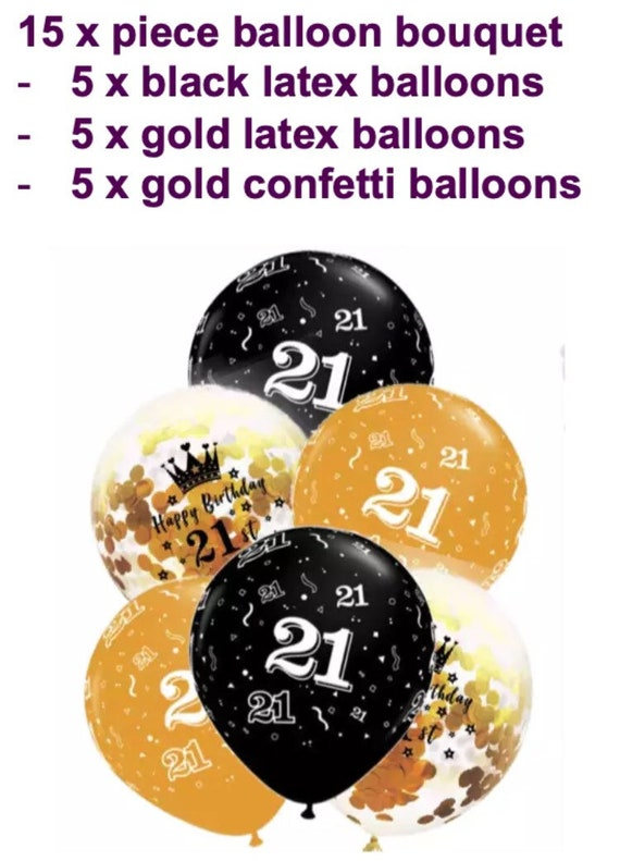Confetti 21st Birthday Decorations Balloons Cheers to 21 Years Beer Confetti Balloons