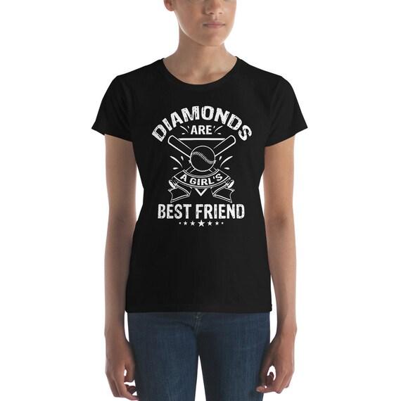 49eee44b Diamonds are a Girl's Best Friend Women's short sleeve | Etsy