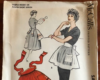 1958 Vintage McCall's Sewing Pattern for a Sample Apron