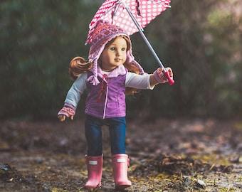 Birdie in the Rain (4x4 Print)