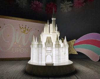 Cinderella Castle Night Light - Lamp - Kids Room - 3D Printed - Miniature - Statue - Replica - Disney