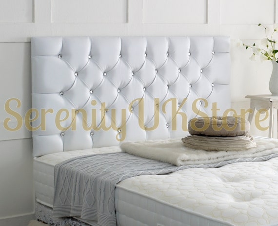 """Plain faux leather 20/"""" headboard Various colours and sizes"""