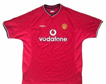 922d5ec6101 Vintage 2001/2002 Manchester United Umbro Football Jersey