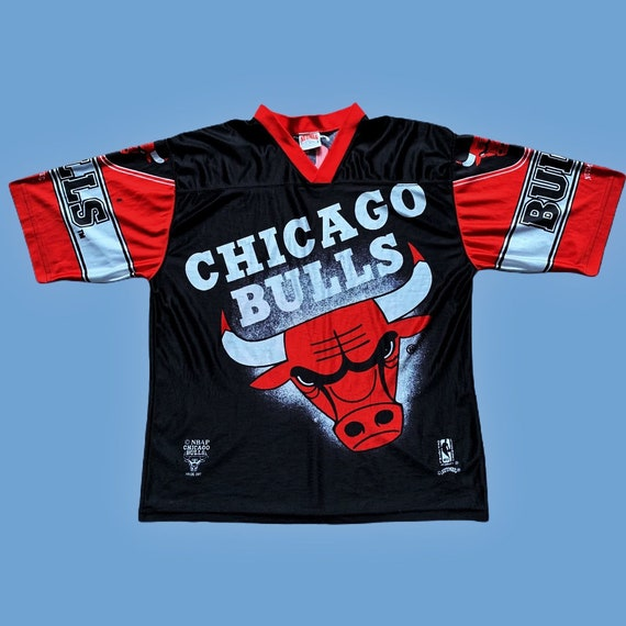 Vintage 90s Chicago Bulls All Over Print Jersey