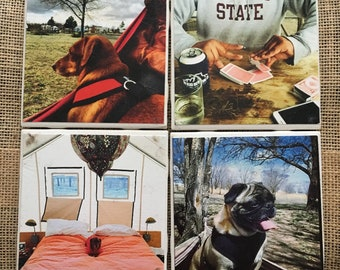 Handmade Coasters from Your Photos (Set of Four)