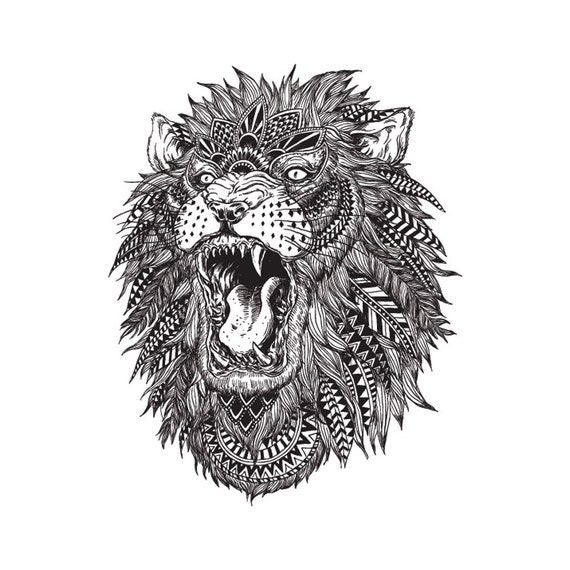 Lion Tattoo Tattooing Download Digital File For Baby Sticker Etsy
