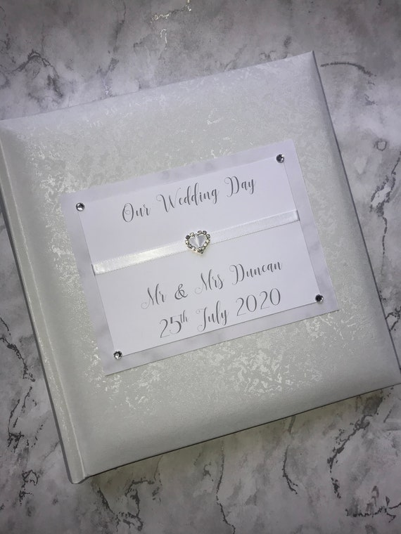 Personalised Traditional Wedding Glitter Photo Album Gift 200 6x4 Photos