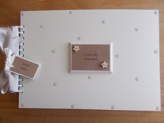 Personalised Handmade A4 Condolence Grandad Memory Scrapbook Album QUICK POST