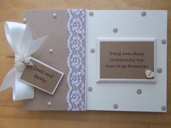 PERSONALISED OUR LOVE STORY SCRAPBOOK MEMORY PHOTO ALBUM GIFT MULTI USE