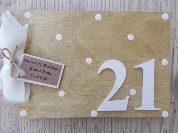 Wooden Personalised 70th Birthday Guest Book Memories Memory Scrapbook Photo Album Milestone Birthday Gift Any Name Any Age Multi Use