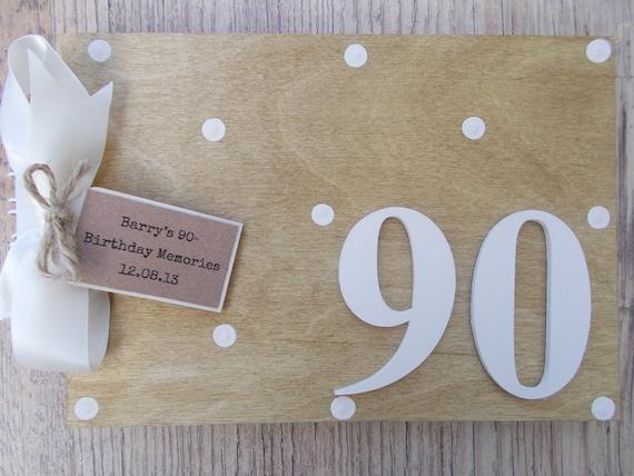 PERSONALISED 90TH BIRTHDAY MEMORIES SCRAPBOOK MEMORY PHOTO ALBUM GIFT MULTI USE