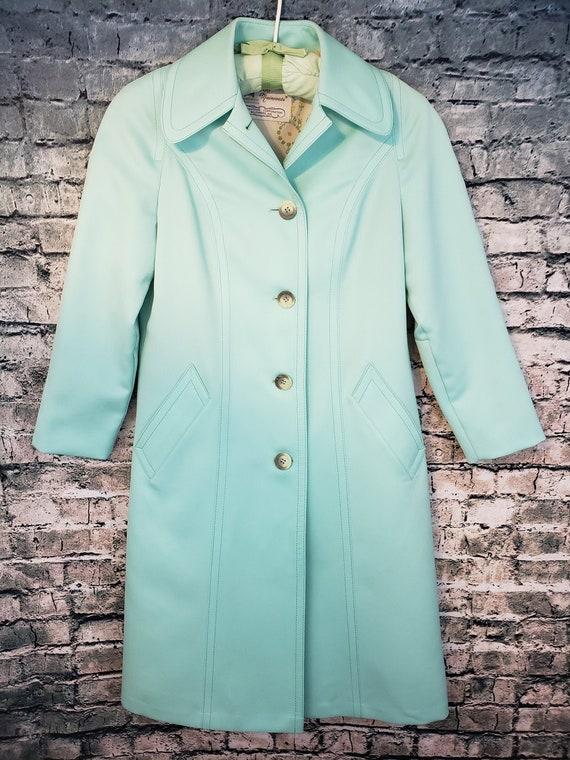Vintage London Fog Mint Green Trench Coat