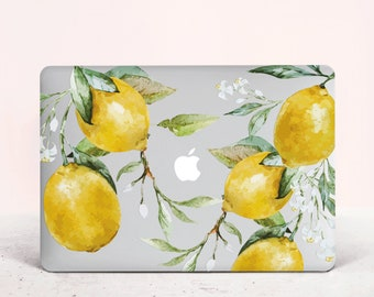 MacBook Cases Yellow Sour Sweet Summer Fruit Lemon Plastic Hard Shell Compatible Mac Air 11 Pro 13 15 MacBook Accessories Protection for MacBook 2016-2019 Version