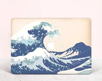 44748531804b Sea Wave Macbook Pro Case Hard Cover Hokusai Macbook 13 11 Air Case The  Great Wave of Kanagawa Pro 13 2018 Case Laptop Case Famous Paint