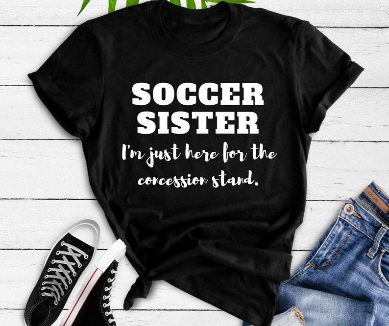 2d611bae183 Soccer Sister T-Shirt / Girls Soccer Shirt / Cute Soccer | Etsy