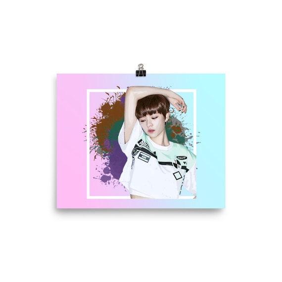 Yoo Jung Yeon Kpop Poster Kpop Wallpaper Kpop Portrait Painting Watercolor Twice Kpop Bayeon Jeongyeon Momo Sana Jihyo Mina Cha