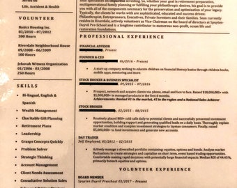 Looking For A Better Paying Job? Personalized Resume On Customized Template