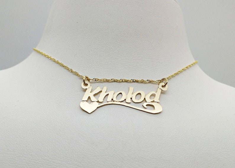 personalized 14K gold name necklace