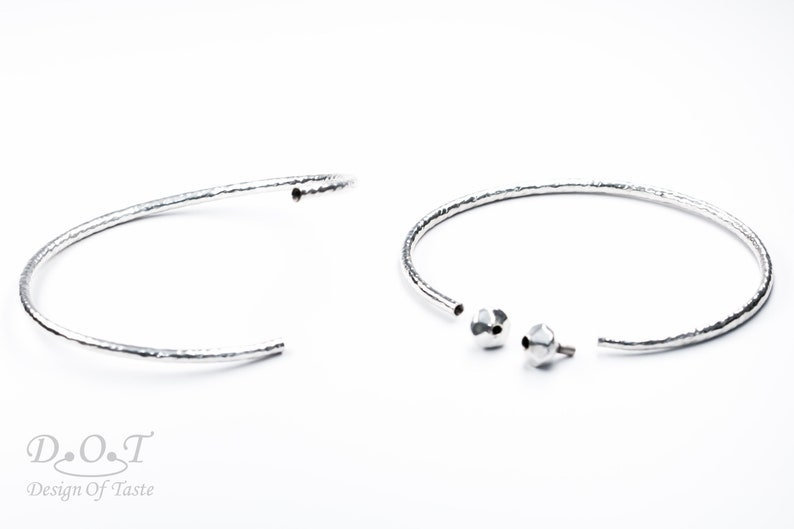sterling silver cuff charms bracelet
